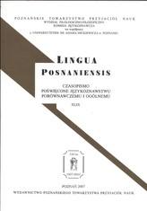 Lingua Posnaniensis Tom 49
