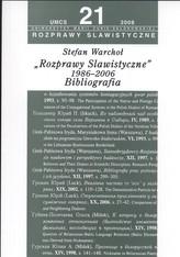 Rozprawy slawistyczne nr 21 1986-06 Bibliografia