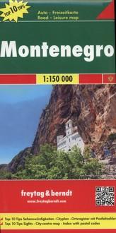 Czarnogóra mapa drogowa 1:150 000