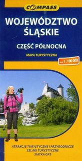 Województwo Śląskie część północna mapa turystyczna