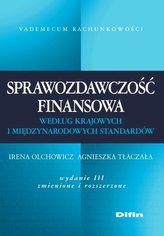 Sprawozdawczość finansowa według krajowych i międzynarodowych standardów