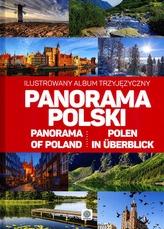 PANORAMA POLSKI ILUSTROWANY ALBUM TRZYJĘZYCZNY POLSKO ANGIELSKO NIEMIECKI