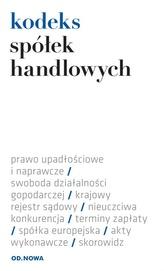KODEKS SPÓŁEK HANDLOWYCH 01.09.2014 FOLIA