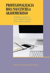 Profesjonalizacja roli nauczyciela akademickiego