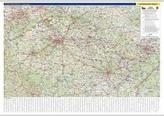 Česká republika nástěnná mapa