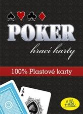 Poker hrací karty modré