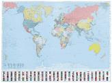 Svět politická nástěnná mapa