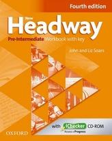 New Headway Pre-Intermediate Workbook Fourth Edition with Key + iChecker CD-rom