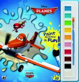 Letadla - Omalovánky s barvami A4