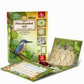 4 přírodovědné hry - Leporelo her s kostkou, figurkami a žetony, pro zábavné učení přírodopisu a angličtiny