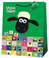 Ovečka Shaun, dárková taška, jumbo 7 (zelená)