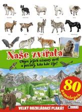 Naše zvířata - velký rozkládací plakát, 80 samolepek