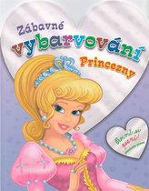 Princezny - Zábavné vybarvování (fialová)