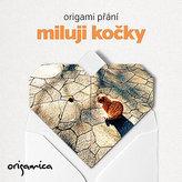 Origami přání - Miluji kočky (zrzeček)