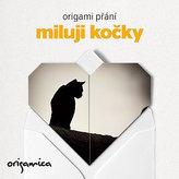 Origami přání - Miluji kočky (černá)