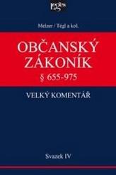 Občanský zákoník Velký komentář § 655-975