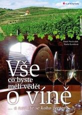 Vše, co byste měli vědět o víně....a nemáte se koho zeptat