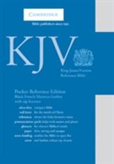KJV Pocket Reference Edition KJ243:XRZ Black French Morocco Leather, with Zip Fastener
