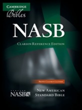 NASB Clarion Reference Bible NS485:X Brown Calfskin Leather