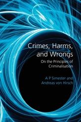 Crimes, Harms, and Wrongs