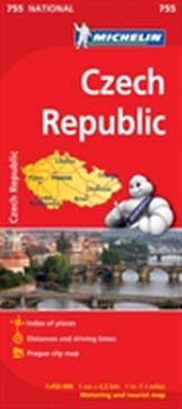 Czechia - Michelin National Map 755