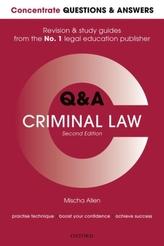 Concentrate Q&A Criminal Law