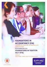 FTX Foundation in Taxation (FA17) - Exam Kit