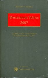 Halsbury's Statutes Destination Tables
