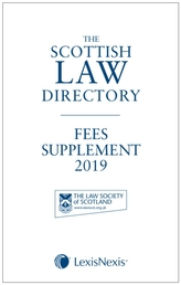 The Scottish Law Directory: The White Book Fees Supplement 2019