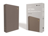 NET Bible, Single-Column Reference, Cloth over Board, Gray, Comfort Print