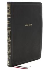NKJV, Thinline Bible, Giant Print, Leathersoft, Black, Red Letter, Comfort Print