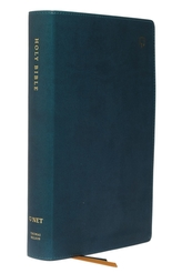 NET Bible, Single-Column Reference, Leathersoft, Teal, Comfort Print