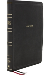 KJV, Thinline Bible, Giant Print, Leathersoft, Black, Thumb Indexed, Red Letter, Comfort Print