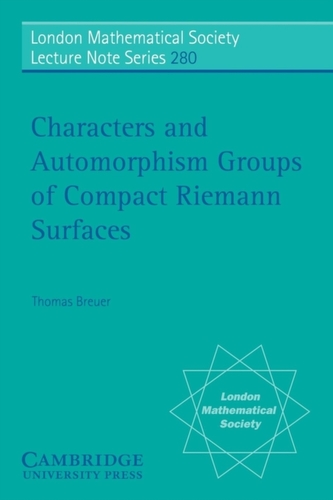 Characters and Automorphism Groups of Compact Riemann Surfaces