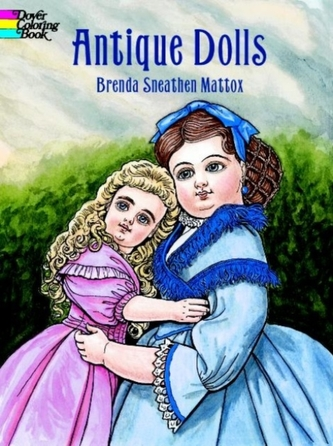Antique Dolls Colouring Book
