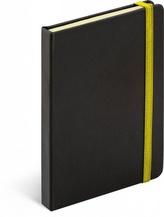 Notes Tucson černá/žlutá, 13 x 21 cm