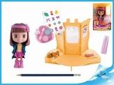 Panenka Cocodels Novi plast 16cm s pokojíčkem + make-up doplňky v krabičce