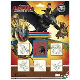 Razítka Dragons, blistr 5 ks