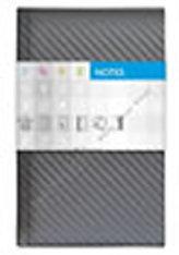 Notes Carbon stříbrný linkovaný standard