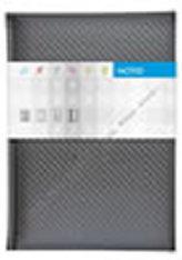 Notes Carbon stříbrný linkovaný A5