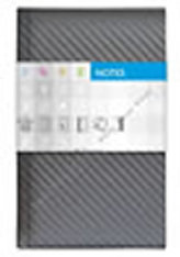 Notes Carbon stříbrný čtverečkovaný standard