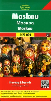 Plán města Moskva 1:20 000