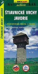 Štiavnické vrchy, Javorie 1:50 000