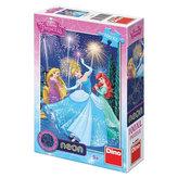 Puzzle Princezny svítící ve tmě 100dílků 33x47cm v krabici