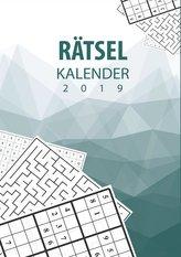 Rätsel Kalender 2019 - Terminplaner & Kalender 2019 mit 90 Rätseln