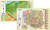 Podkładka na biurko - Mapa fizyczno-admini. Polska