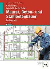 Arbeitsheft mit eingetragenen Lösungen Lernfeld Bautechnik Maurer, Beton- und Stahlbetonbauer