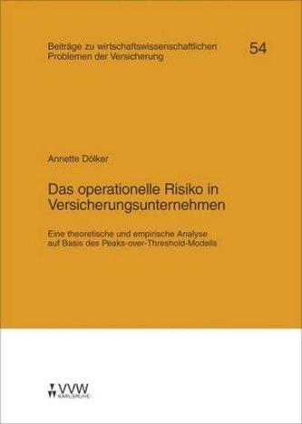 Das operationelle Risiko in Versicherungsunternehmen