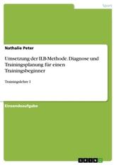 Umsetzung der ILB-Methode. Diagnose und Trainingsplanung für einen Trainingsbeginner