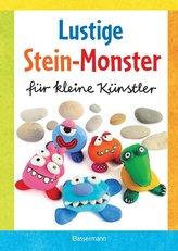 Lustige Stein-Monster für kleine Künstler. Basteln mit Steinen aus der Natur. Ab 5 Jahren